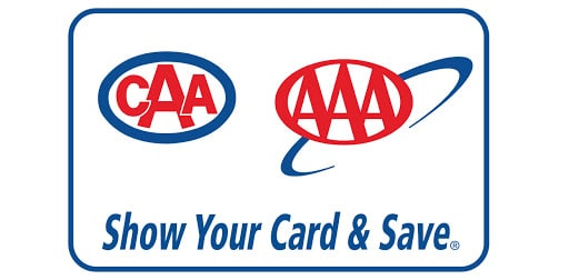 CAA / AAA. Show your card & save.